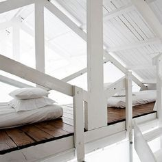 loft bed between trusses - Google Search