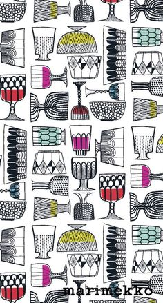 iPhone壁紙 Wallpaper Backgrounds and Plus Marimekko iPhone Wallpaper Unusual Wallpaper, Wallpaper Uk, Wallpaper Backgrounds, Iphone Wallpaper, Textile Patterns, Textile Design, Textiles, Marimekko, Illustrations And Posters