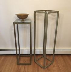 Metal frames/pedestals: × × and × × Glass tops are removable. Metal Frames, Autumn Inspiration, Glass, Table, Furniture, Tops, Home Decor, Homemade Home Decor, Metal Picture Frames