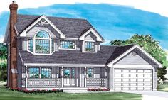 Traditional House Plan 55288