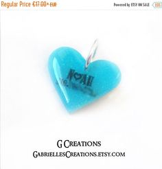 2016 SALE Blue Heart Dog and Cat ID Tag  by GabriellesCreations