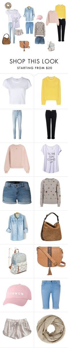 """painel esportivo"" by ale-duarte-1 on Polyvore featuring moda, RE/DONE, Acne Studios, Current/Elliott, Off-White, Banana Republic, LE3NO, Barbour, UGG e Red Camel"