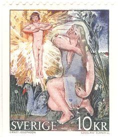 """Sweden 10kr """"Goosegirl"""". 1973. Ernst Josephsson del. Czeslaw Slania sc."""