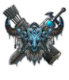 Logo Concept, Concept Art, World Of Warcraft Game, Shield Icon, Button Game, Warriors Game, Magic Symbols, Fantasy Art Landscapes, Prop Design