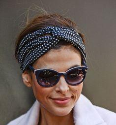I modelli più cool di turbante - Eva Mendes con turbante