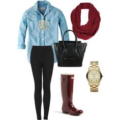 """""""Fall OOTD"""" by anelloaudrey on Polyvore featuring Three Hip Chicks Signature Monogram Necklace in gold"""
