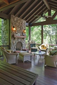 We're stepping out of the cooking area today, as well as into the screened in porch. I'm sharing screened in porch ideas on exactly how to take advantage of a small spending plan. Screened Porch Designs, Screened In Porch, Back Porch Designs, Front Porch, Outdoor Rooms, Outdoor Living, Outdoor Kitchens, Veranda Design, Haus Am See