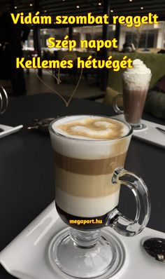 szombat reggel - Megaport Media Retro Hits, Share Pictures, Animated Gifs, Good Morning Good Night, Latte, Drinks, Tableware, Happy, Amor
