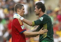 Fernando Torres and Roche. Tahiti vs Spain. Confederations cup. June 20, 2013.