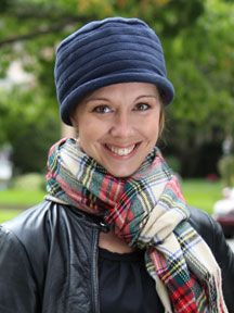 Isabella Fleece Cloche. You're sweet head is in for a treat with this soft, plush, light-weight fleece cloche hat for cancer chemo patients and women with medical hair loss.
