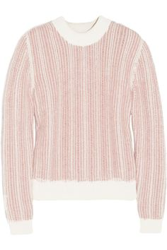 Chloé|Textured cotton and angora-blend sweater|NET-A-PORTER.COM