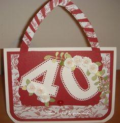 Handbag card   docrafts.com I Card, Projects, Bags, Log Projects, Handbags, Blue Prints, Bag, Totes, Hand Bags