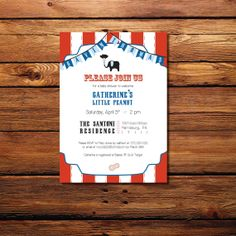 Circus Theme Baby Shower Invite - Wints Prints on Etsy