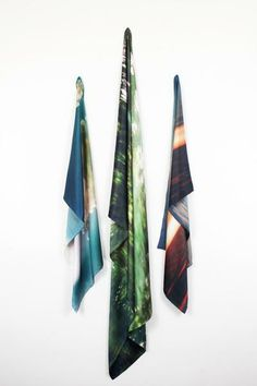 Desert & Lakes scarves - art meets photography meets silk and creates these wearable works of art <3