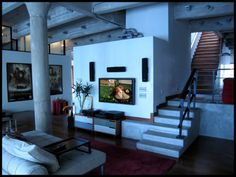 Awesome multi level loft living  space