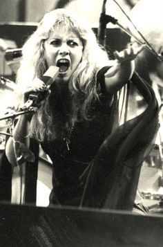 Stevie Nicks - you always know by the picture when she is singing Rhiannon.
