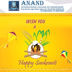 From Anand International College of Engineering wishing all of you a #HappyMakarSankranti. May the sun radiate peace, prosperity and happiness in your life.