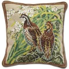 Needlepoint pillow.