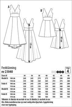 Festklänning - 23040 - Stoff & Stil