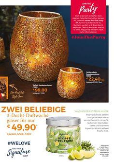 Party Kit, Catalogue, Candle Jars, Fruit, Food, Make Money, October, Meal, Candle Mason Jars