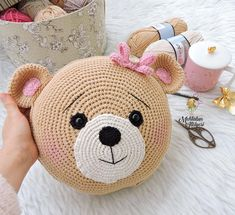 Knitting Cushion Making For Child Room – Knitting And We Crochet Cushion Cover, Crochet Cushions, Crochet Pillow, Crochet Bear, Crochet Home, Cute Crochet, Crochet For Kids, Crochet Animals, Crochet Crafts