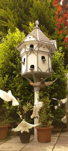 Beautifully Hand Crafted Post Mounted Dovecotes And Wall Mounted Dovecotes.