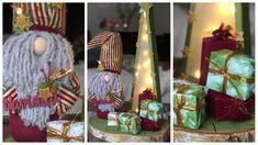 RECICLO UN FRASCO PARA HACER UN GNOMO Y CARTÓN PARA UN ÁRBOL DE NAVIDAD Ideas Geniales, Ladder Decor, Creations, Christmas, Diy, Home Decor, Youtube, Gold Paint, Gnomes