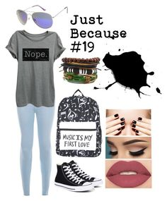 """""""just because #19"""" by music-lover-885095 on Polyvore featuring New Look, Converse, Arizona and Smashbox"""
