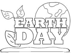 Happy Earth Day Coloring Sheets