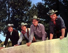 The cast of Laredo - Philip Carey, Peter Brown, Neville Brand and William Smith. Laredo is an American Western television series that aired on NBC from September to April It is set on the Mexican border about Laredo, Texas. William Smith Actor, Neville Brand, Tv Show Casting, Tv Westerns, Thing 1, Cowboy Up, Old Shows, Western Movies, Vintage Tv