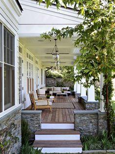 nice width of porch