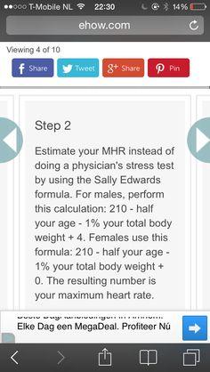 Een andere manier om je maximum hartslagzone te berekenen. Je komt op een hogere max uit dan de 220-leeftijd formule, maar ik denk dat deze meer overeenkomt met de signalen die mijn lichaam me geeft wanneer ik ga proberen binnen een bepaald percentage belasting te lopen.