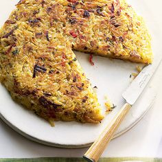 The sweet flavors of leeks and bell peppers contrast well with the earthy taste of the russet potatoes.  Recipe: Hash Browns with Leeks and Bell Peppers     - Delish.com