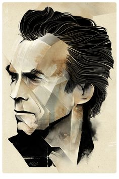 """Clint Eastwood"" Illustration by Alexey Kurbatov on Behance"