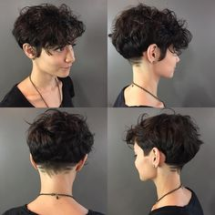 "133 curtidas, 6 comentários - @tatumneill no Instagram: ""A little @chloelynhair action! #elevatehair #crafthairdresser #curlyhair #pixie #punk"""