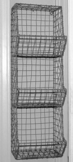 Glory & Grace Large Rustic Industrial Wall Mount Metal and Wire General Store Multi-Bin Storage Baskets Storage Baskets, Bin Storage, Storage Ideas, Wall Storage, Metal Baskets, Food Storage, Rustic Industrial Decor, Industrial Decorating, Industrial Metal