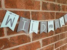WILD ONE Banner... First Birthday... Baby Boy... Baby Girl
