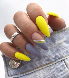 Classy Nail Designs, Fall Nail Designs, Acrylic Nail Designs, Manicure Nail Designs, Coffin Nail Designs, Unique Nail Designs, Grey Nail Designs, Classy Nails, Cute Nails
