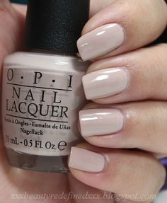 OPI Baring It All ~ Neutral nails are the perfect compliment to a spring pastel or a colorful brights outfit!