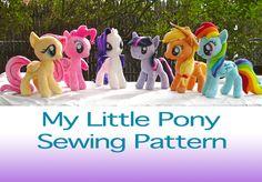 My Little Pony Plush Pattern Digital copy. $10.00, via Etsy.