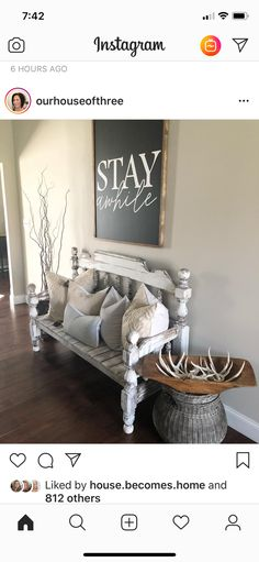 Cute sign with bench for entryway! Love it! 2019 Cute sign with bench for entryway! Love it! The post Cute sign with bench for entryway! Love it! 2019 appeared first on Entryway Diy. My Living Room, Home And Living, Living Room Decor, Entryway Decor, Wall Decor, Foyer, Door Entryway, Entryway Ideas, Room Decor For Teen Girls