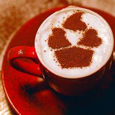 Stencil latte art. Coffee. http://loover.fr
