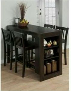Jofran Furniture Maryland Merlot Counter Height Set is part of Small kitchen tables - Shop Jofran Furniture Maryland Merlot Counter Height Set with great price, The Classy Home Furniture has the best selection of Bar Complete Sets to choose from Dining Table With Storage, Small Kitchen Tables, Table For Small Space, Small Spaces, Small Dinning Room Table, Space Saving Dining Table, Small Dining Table Apartment, Small Dinner Table, Dining Table Small Space