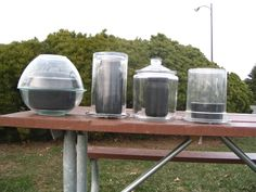 Solar cooking pots - Solar Cooking (pyrex bowls, glass jars and lids, even plastic. I would have never thought of this on my own; its so simple)