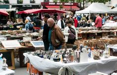 One of the best markets in Paris, this lively market has a flea market, great cheese, excellent fruits and vegetables, bakeries. Paris Travel, France Travel, Paris Study Abroad, Store Window Displays, Booth Displays, Paris Flea Markets, I Love Paris, French Countryside, Oui Oui