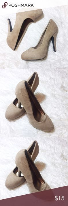 Nude pumps 🙈 Super cute & comfortable nude pumps from dots Only worn once for a wedding Still in perfect condition 4.5 inch heels Size: 8 Original price: $35 Dots Shoes Heels