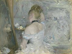 Berthe-Marie-Pauline Morisot (French, Woman at Her Toilette, c. Oil on canvas. Purchased by Durand-Ruel from Morisot. Sold to American artist William Merritt Chase in The Art Institute of Chicago. Stickney Fund © The Art Institute of Chicago Mary Cassatt, Berthe Morisot, Dallas Museums, Chicago Art, Chicago Illinois, Philadelphia Museum Of Art, Pierre Auguste Renoir, Edouard Manet, Impressionist Art