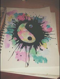 Yin Yang Watercolor