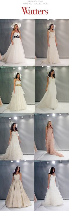 Watters Spring 2012 Bridal Collection. #wedding #weddinggown #bridal