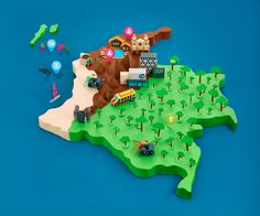 Map of Colombia l Papercut for Fast Company Magazine on Behance